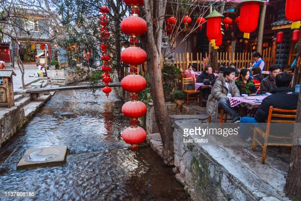 Alfresco dining in Lijiang old town