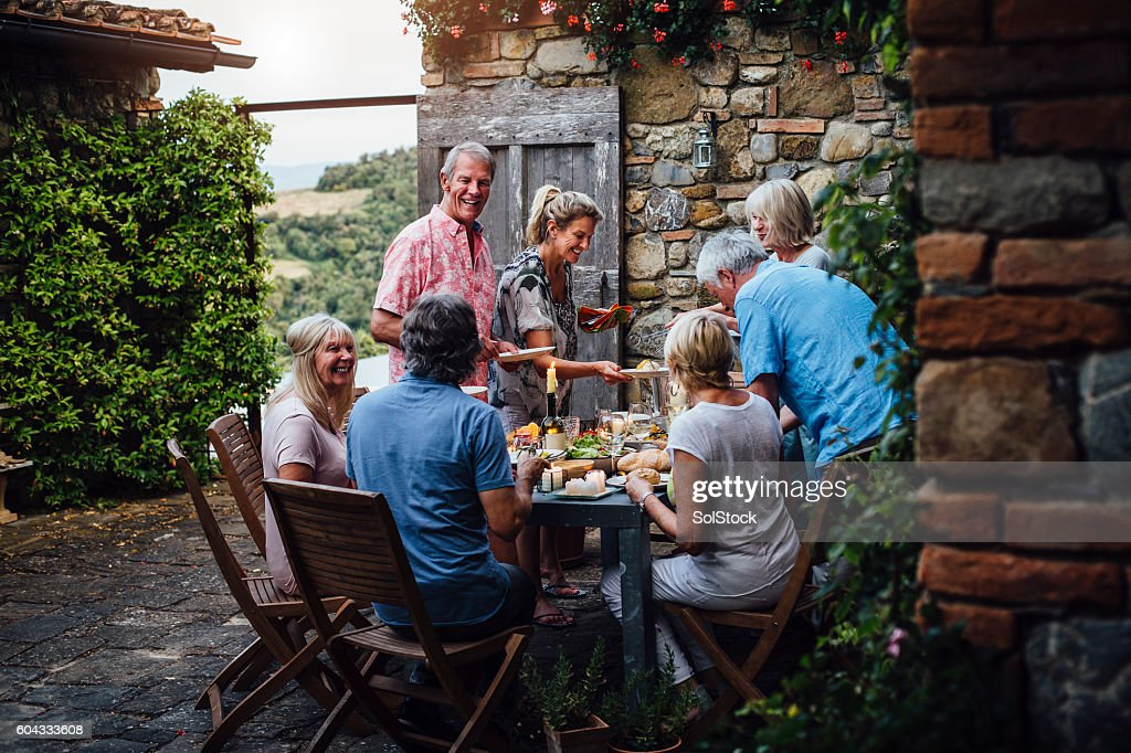 Alfresco Dining : Stock Photo