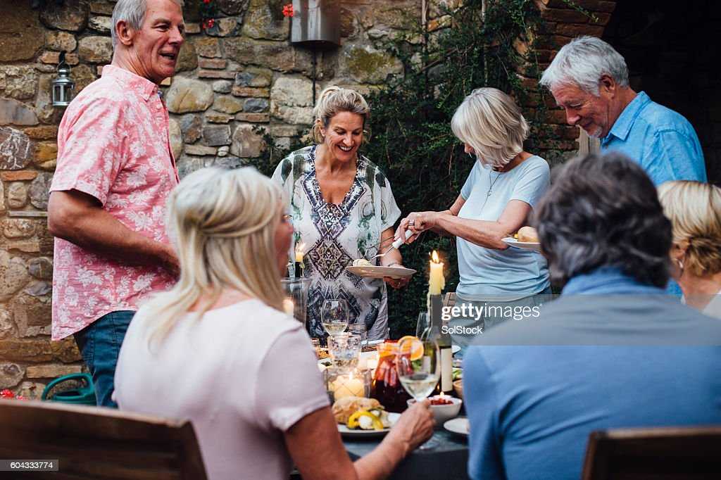 Alfresco Dining : Stock Photo