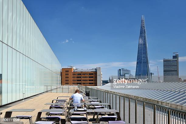 CONTENT] Alfresco dining terrace The Shard skyscraper at background