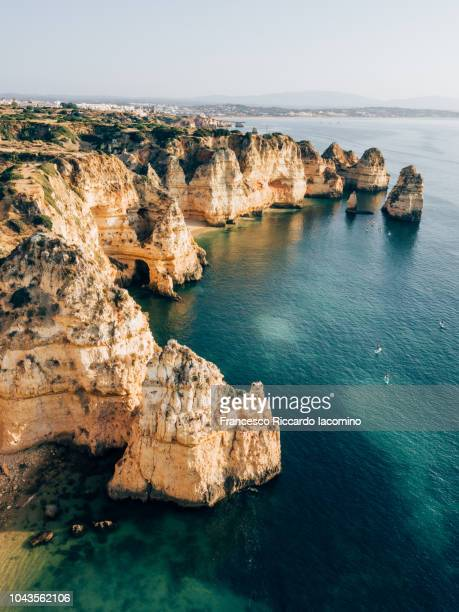 Algarve, aerial view in the morning. Portugal