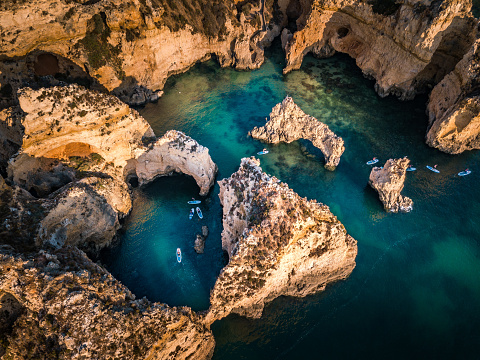Algarve, aerial view in the morning. Portugal - gettyimageskorea