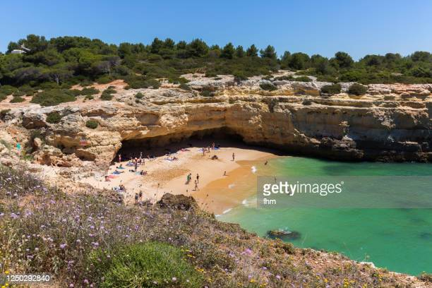 algarve beach and coastline (portugal) - アルブフェイラ ストックフォトと画像