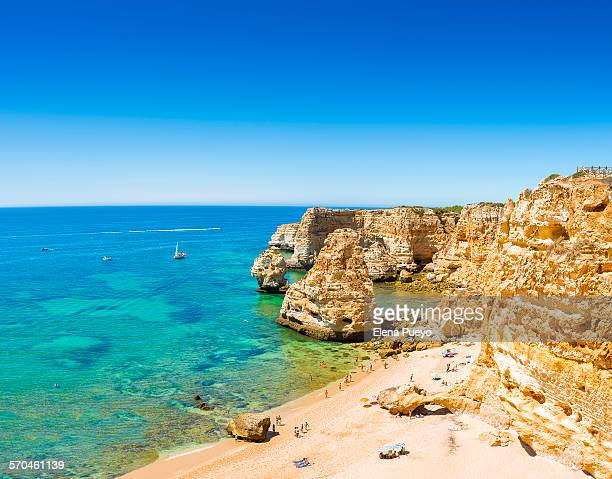 algarve beach - algarve stock photos and pictures