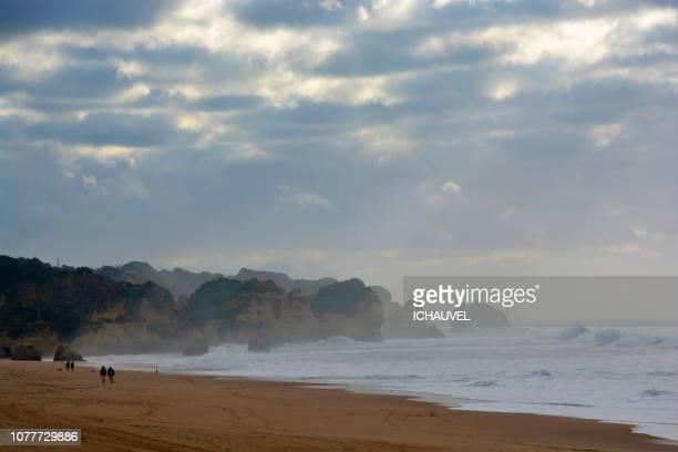 algarve coast portugal - alvor stock pictures, royalty-free photos & images