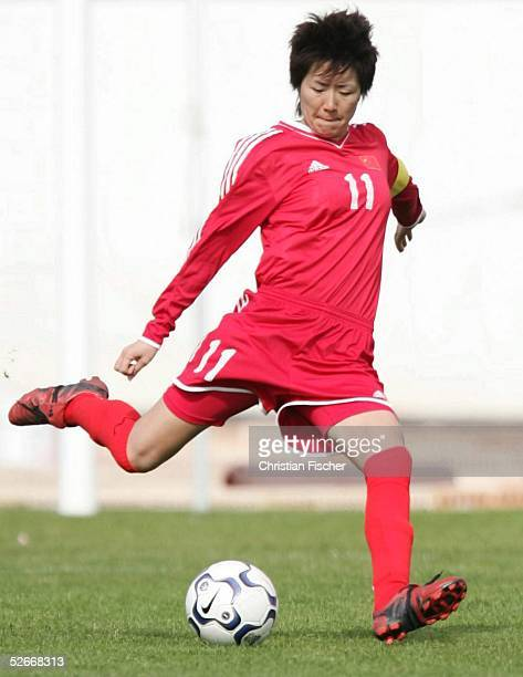 Algarve Cup 2005, Lagos, 09.03.05; Norwegen - China ; Pu WEI/CHN