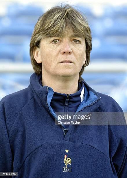 Algarve Cup 2005, Spiel um Platz 3, Loule, 15.03.05; Frankreich - Schweden ; Trainerin Elisabeth LOISEL/FRA