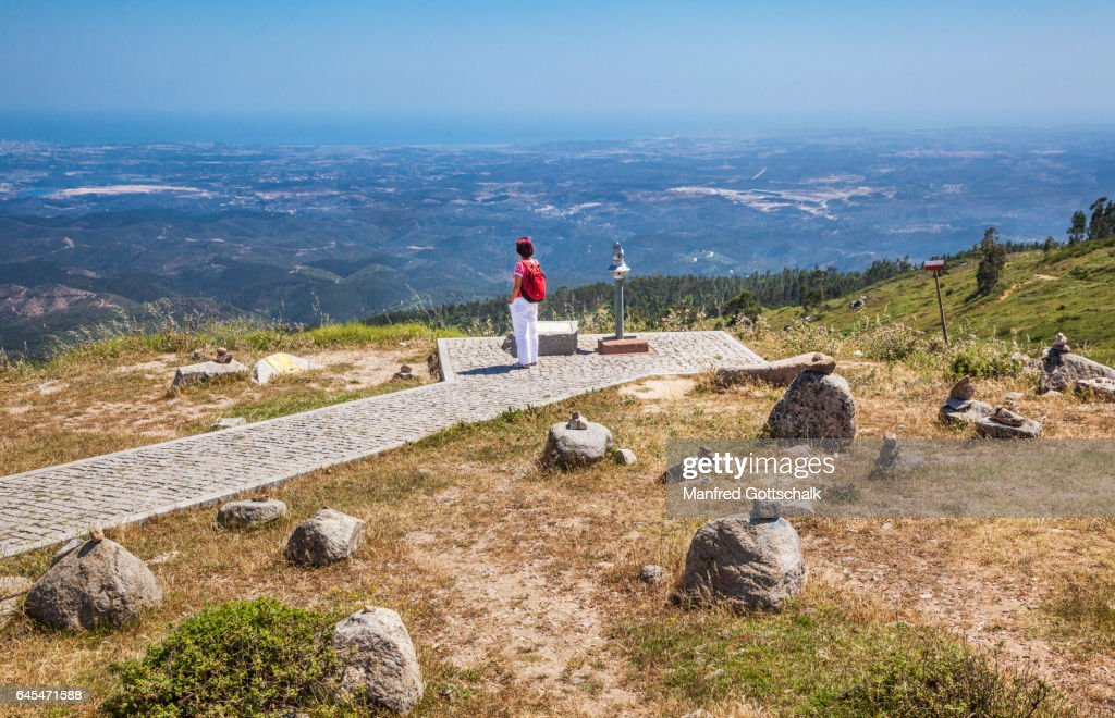 Algarve view from Foia mountain : ストックフォト
