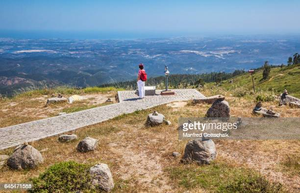 algarve view from foia mountain - monchique stock pictures, royalty-free photos & images