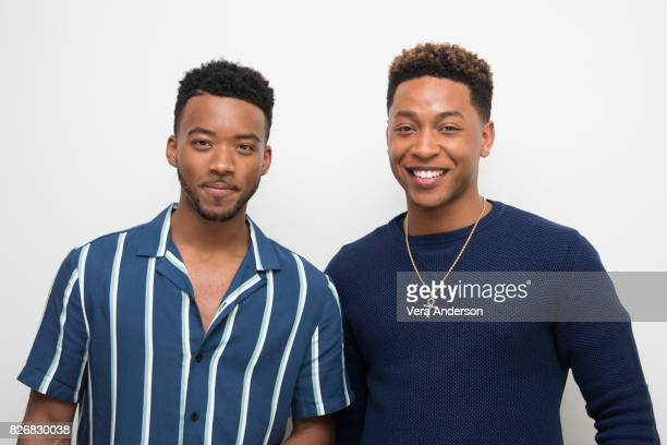 Algee Smith and Jacob Latimore at the 'Detroit' Press Conference at the Four Seasons Hotel on August 4 2017 in Beverly Hills California