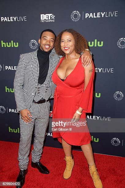 Algee Smith and Lisa Nicole Carson attend The New Edition Story at The Paley Center for Media on December 14 2016 in Beverly Hills California