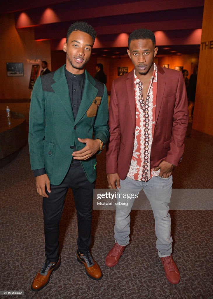 Algee Smith and Malcolm David Kelley attend a special screening of 'Detroit' hosted by Annapurna Pictures at the Directors Guild of America on August 3, 2017 in Los Angeles, California.