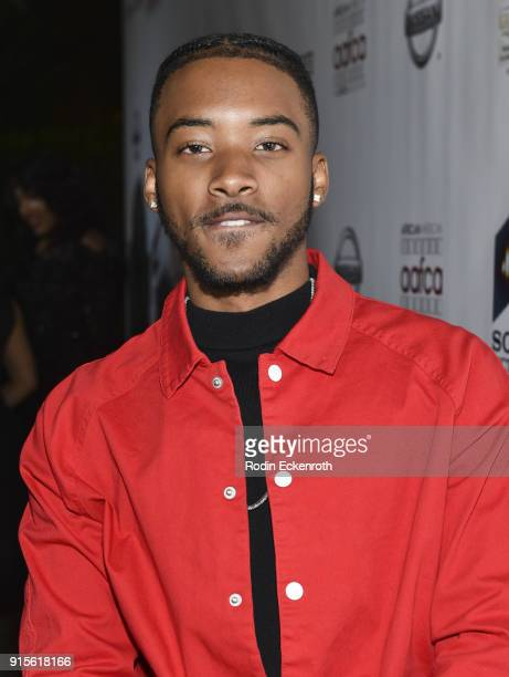 Algee Smith arrives at the 9th Annual AAFCA Awards at Taglyan Complex on February 7 2018 in Los Angeles California