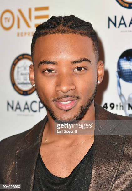 Algee Smith at the 49th NAACP Image Awards NonTelevised Awards Dinner at the Pasadena Conference Center on January 14 2018 in Pasadena California
