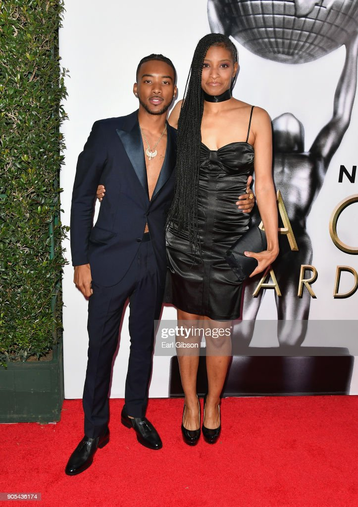 Algee Smith (L) at the 49th NAACP Image Awards on January 15, 2018 in Pasadena, California.
