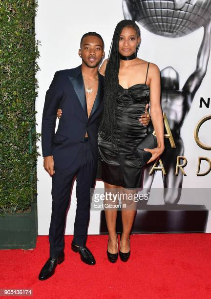Algee Smith at the 49th NAACP Image Awards on January 15 2018 in Pasadena California
