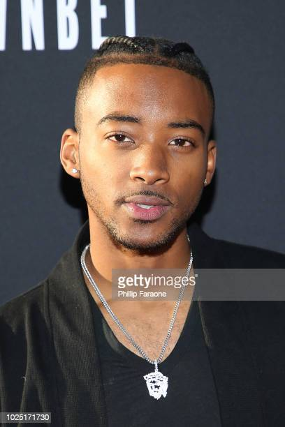 Algee Smith attends BET and Toyota present the premiere screening of 'The Bobby Brown Story' at Paramount Theatre on August 29 2018 in Hollywood...
