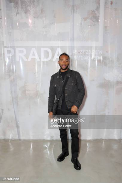 Algee Smith attends Prada Men's Spring/Summer 2019 Fashion Show on June 17 2018 in Milan Italy