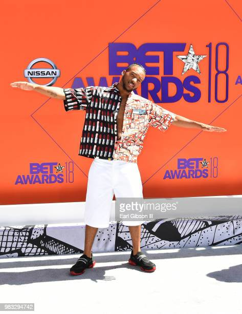 Algee Smith attends the 2018 BET Awards at Microsoft Theater on June 24 2018 in Los Angeles California