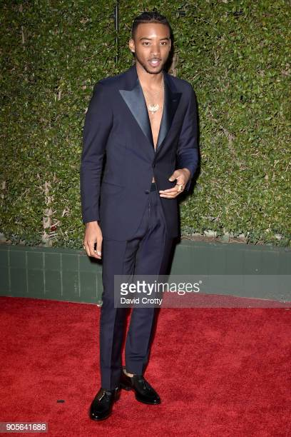 Algee Smith attends the 49th NAACP Image Awards Arrivals at Pasadena Civic Auditorium on January 15 2018 in Pasadena California