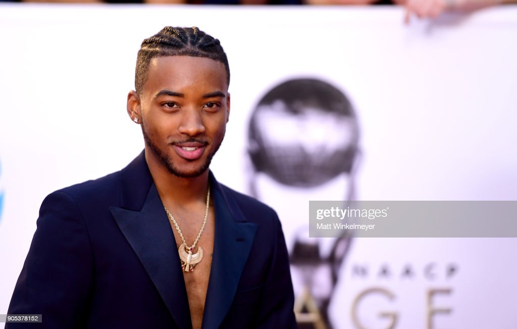 Algee Smith attends the 49th NAACP Image Awards at Pasadena Civic Auditorium on January 15, 2018 in Pasadena, California.