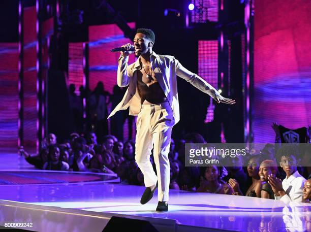 Algee Smith performs onstage at 2017 BET Awards at Microsoft Theater on June 25 2017 in Los Angeles California