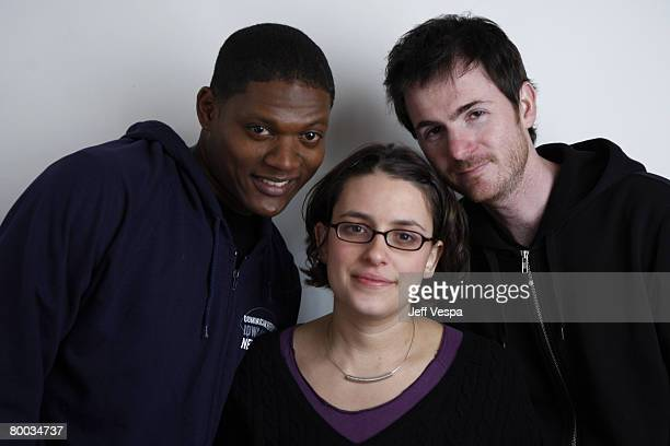 Algenis Perez Soto Anna Boden and Ryan Fleck at the Sky 360 by Delta lounge WireImage portrait studio on January 22 2008 in Park City Utah