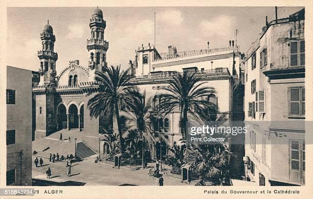 Alger Palais du Gouverneur et la Cathedrale' circa 1900 The Governor's Palace and the Cathedral Algiers Algeria [Cie Des Arts Photoméchaniques...