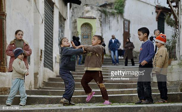 ALGIERS Algeria A Jan 29 photo shows children playing in the Kasbah area of Algiers the capital of Algeria The Jan 16 hostage crisis has affected...