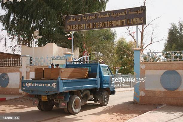 IN AMENAS Algeria A truck carries coffins into a hospital in In Amenas Algeria on Jan 21 following a hostage crisis