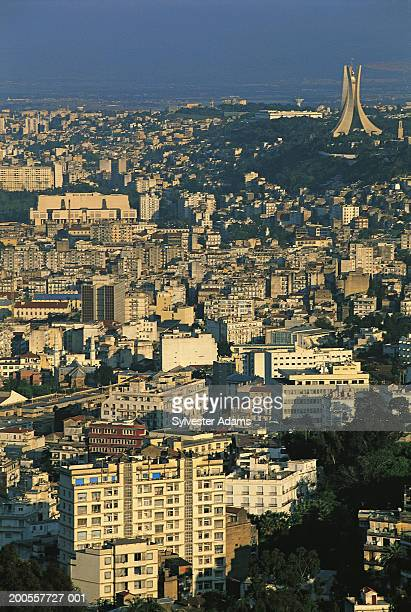 algeria, alger city skyline, elevated view - algiers algeria stock pictures, royalty-free photos & images