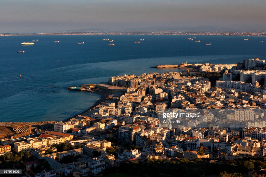 Algeria, Algier, view to the city from above : Stock Photo