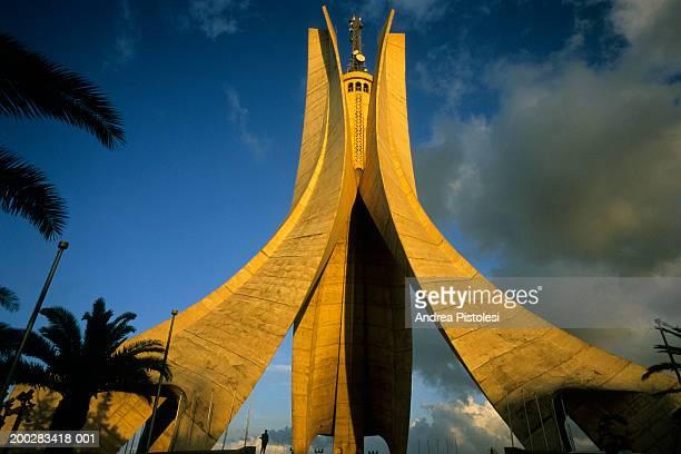 algeria, algiers, martyrs' monument, low angle view - アルジェー ストックフォトと画像