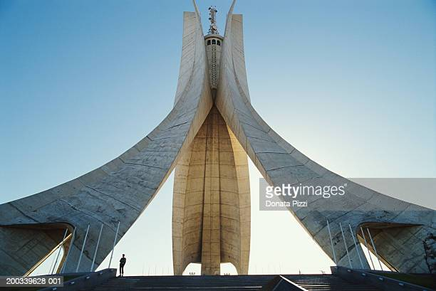 algeria, algiers, martyrs monument, low angle view - algiers algeria stock pictures, royalty-free photos & images