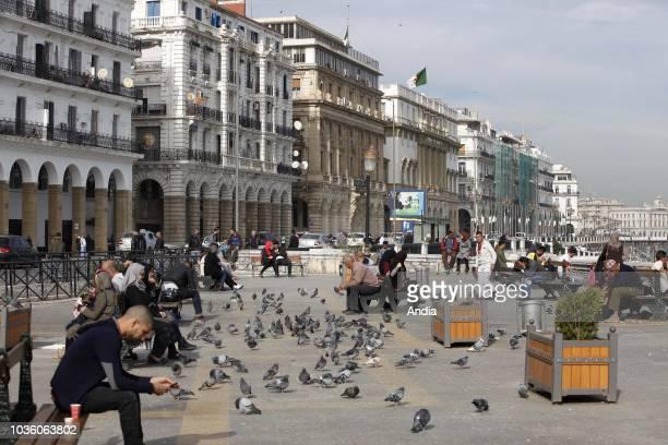 square along Boulevard Zirout Youcef