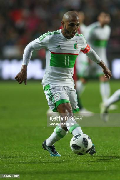 Algeria and FC Porto forward Yacine Brahimi during Portugal vs Algeria International Friendly match at Estadio da Luz on June 7 2018 in Lisbon...