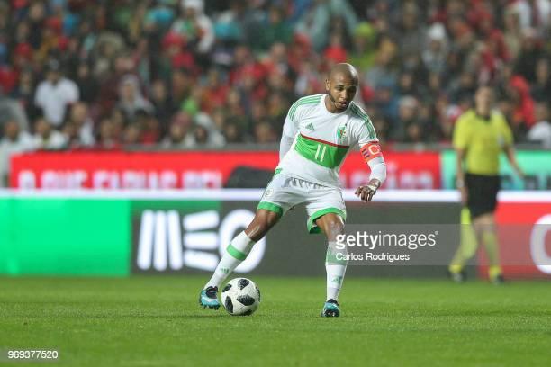 Algeria and FC Porto forward Yacine Brahimi during Portugal vs Algeria International Friendly match at Estadio da Luz on June 7 2018 in Lisbon...