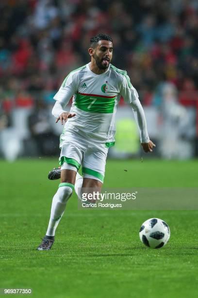 Algeria and Leicester City FC forward Riyad Mahrez during Portugal vs Algeria International Friendly match at Estadio da Luz on June 7 2018 in Lisbon...