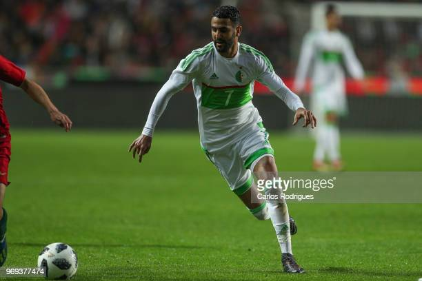 Algeria and Leicester City FC forward Riyad Mahrez during Portugal vs Algeria International Friendly match at Estadio da Luz on June 7 2018 in Lisbon...