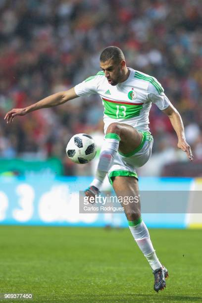 Algeria and Newcastle United forward Islam Slimani during Portugal vs Algeria International Friendly match at Estadio da Luz on June 7 2018 in Lisbon...