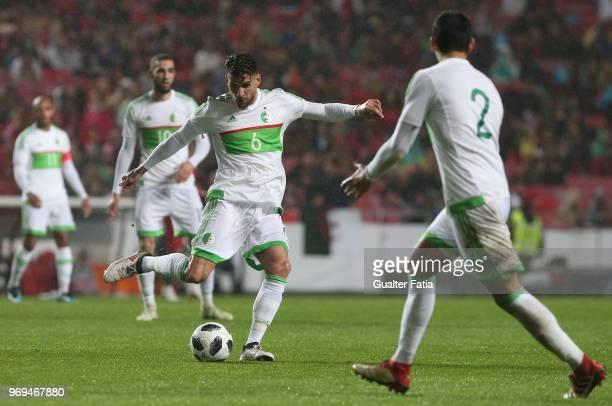 Algeria and Sivasspor defender Carl Medjani in action during the International Friendly match between Portugal and Algeria at Estadio da Luz on June...