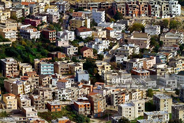 algeria, annaba, suburbs with new housing units. - annaba algeria foto e immagini stock