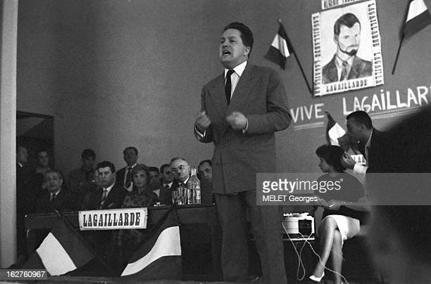 Cantonal Elections Of 1960 In Algiers Meeting Of The French Algeria List Alger février 1960 réunion publique de la liste Algérie française à la...