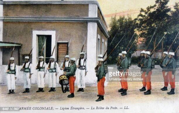 Algeria during French colonial rule Changing of the guard ceremony by the French Foreign Legion