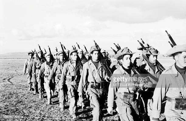 General Bellounis Joined The French Army Guerre d'Algérie décembre 1957 défilé des troupes bellounistes entièrement équipées par l'armée française...