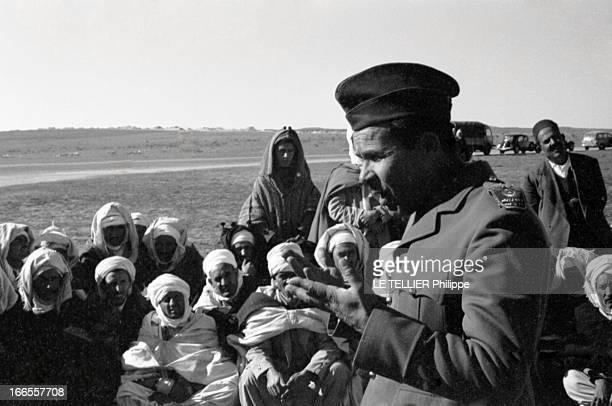 General Bellounis Joined The French Army Guerre d'Algérie DarChioukh décembre 1957 le général BELLOUNIS harangue des délégations musulmanes venues...