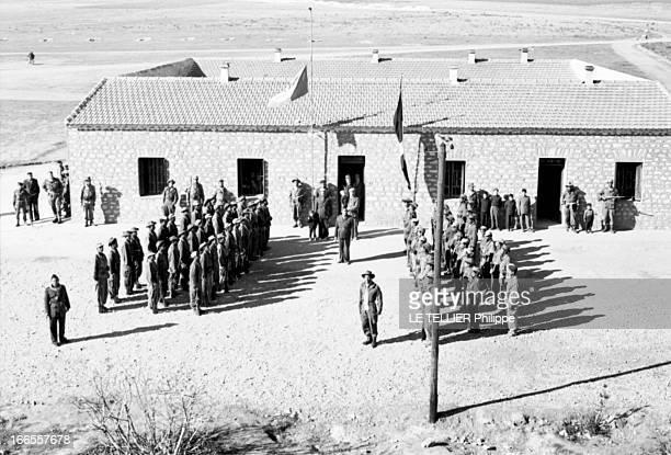 General Bellounis Joined The French Army Guerre d'Algérie DarChioukh décembre 1957 les unités bellounistes rendent les honneurs aux deux drapeaux...