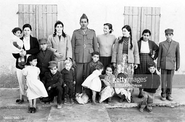 General Bellounis Joined The French Army Guerre d'Algérie DarChioukh décembre 1957 photo de famille du général BELLOUNIS Le général BELLOUNIS...
