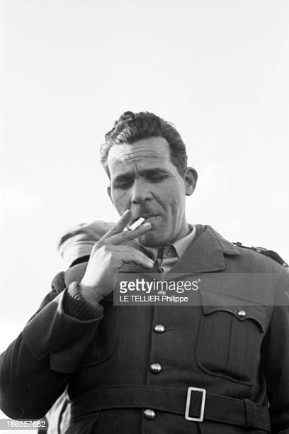 General Bellounis Joined The French Army Guerre d'Algérie DarChioukh décembre 1957 plan de face du général Mohamed BELLOUNIS en uniforme fumant une...