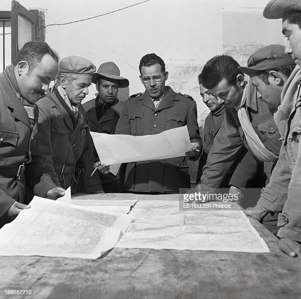 General Bellounis Joined The French Army Guerre d'Algérie DarChioukh décembre 1957 dans son PC le général BELLOUNIS prépare une opération contre les...